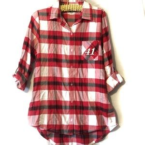 """Used, NASCAR for Her """"41"""" Stewart Haas Racing Plaid M for sale"""